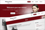 Businesswoman website template