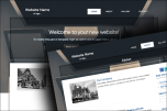 Desktop website template