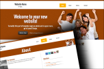 Happy people website template