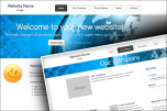 Stretched bright website template