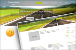 Stretched with header website template