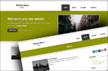 Striped website template