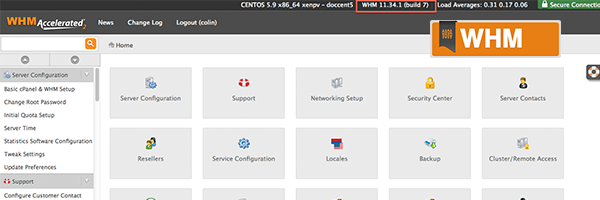 WHM Web Host Manager from cPanel
